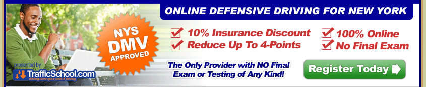 Internet NY Traffic School Defensive Driving